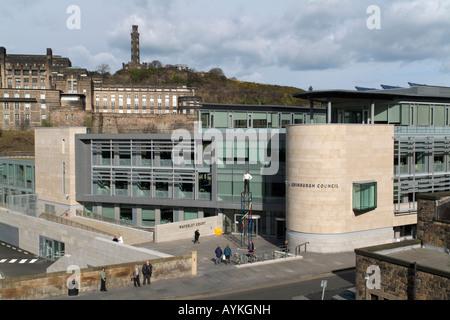 The new Edinburgh City Council HQ at Waverley Court, Edinburgh - Stock Photo
