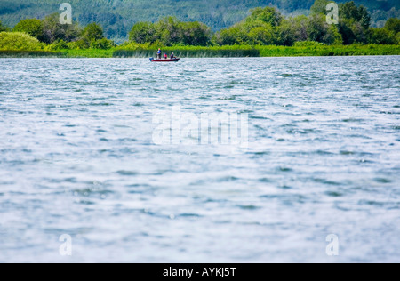 Boating on a lake - Stock Photo