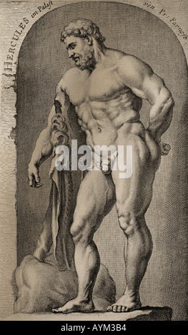 Hercules and the Golden Apples - Stock Photo