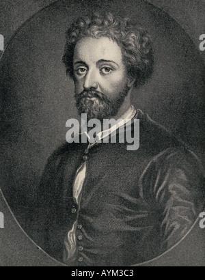 John Fletcher, 1579 - 1625.  Jacobean dramatist. - Stock Photo