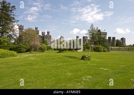 ... Ashford Castle Gardens Cong Co Mayo Ireland   Stock Photo