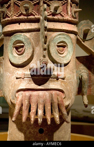 Pueblan God of Water in the National Anthropology Museum in Chapultepec Mexico City - Stock Photo