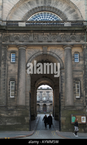Entrance to Edinburgh University's Old College, Edinburgh (editorial only). - Stock Photo