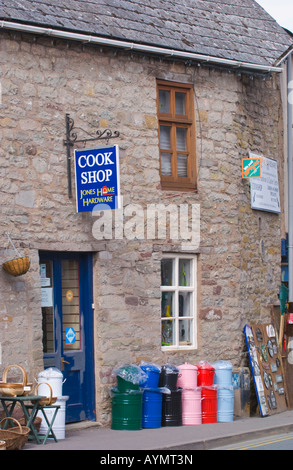 Cook Shop in town of Hay on Wye Powys Wales UK EU - Stock Photo