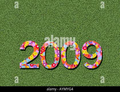 year 2009 spelled out prewritten edited - Stock Photo