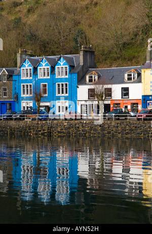 Houses at Tobermory harbour,   Balamory, on the Isle of Mull, Argyll, Scotland uk - Stock Photo