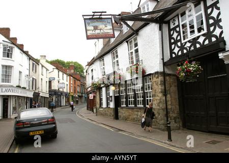 Oxfordshire Banbury Parsons Street Ye Olde Rein Deer Inn - Stock Photo