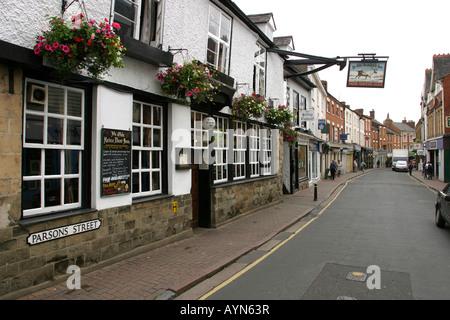 Oxfordshire Banbury Parsons Street Ye Olde Reine Deer Inn - Stock Photo