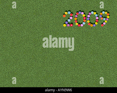 year written spelled out prewritten edited - Stock Photo