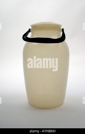 household, dishes / vessels, polyethylene milk churn, produced by VEB Presswerk Tambach, GDR, 1960s, Additional - Stock Photo