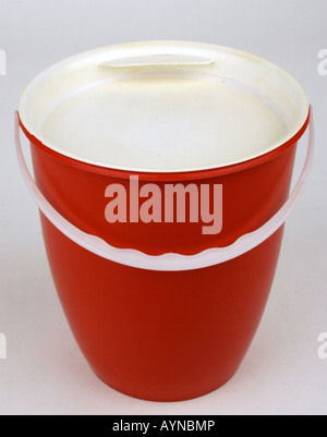 household, dishes / vessels, polyethylene milk churn, produced by VEB Presswerk Tambach, GDR, 1960s, Additional - Stock Photo
