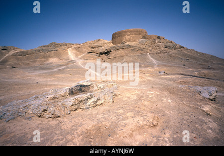 April 26, 2006 - Zoroastrian tower of Silence ouside the Iranian city of Yazd. - Stock Photo