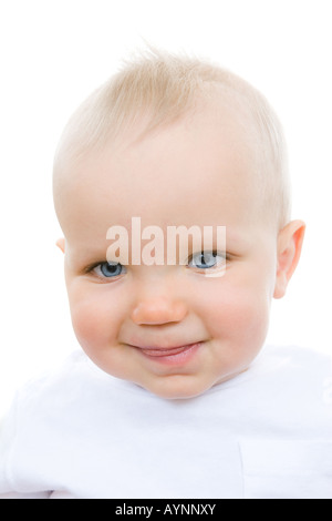Cute infant sticking out his tongue - Stock Photo