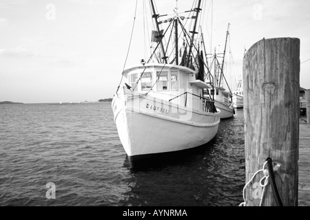 Fishing boats on Skull Creek. Hilton Head Island, South Carolina - Stock Photo