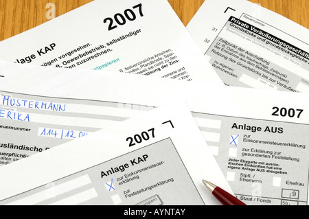 German income tax - Stock Photo