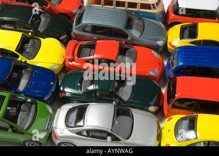toy car traffic jam - Stock Photo