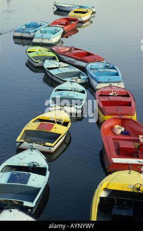 Row of pleasure boats, Stratford upon Avon, England - Stock Photo