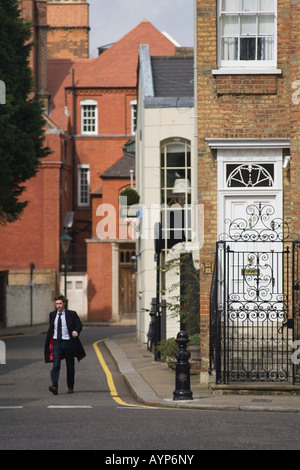 Wealthy young man in Cheyne Row Chelsea London - Stock Photo