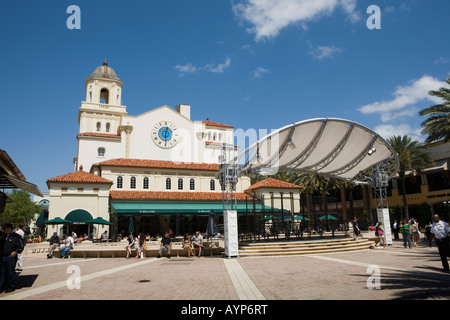 City Place and Harriet Himmell Theater West Palm Beach Florida - Stock Photo