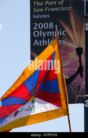 'Olympic Torch Reception, '^anti-China Protest', 'San Francisco', April 9 ^2008' - Stock Photo