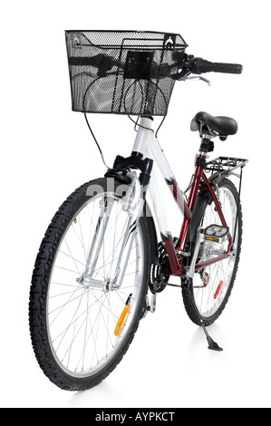 Bicycle with a front basket - Stock Photo