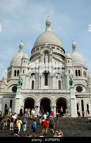 Sacré-Coeur Basilica, Paris, France - Stock Photo