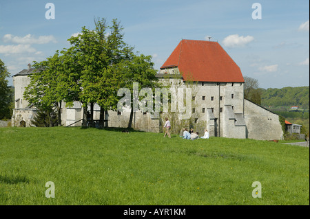 Tittmoning Castle, Tittmoning, Upper Bavaria, Bavaria, Germany, Europe - Stock Photo
