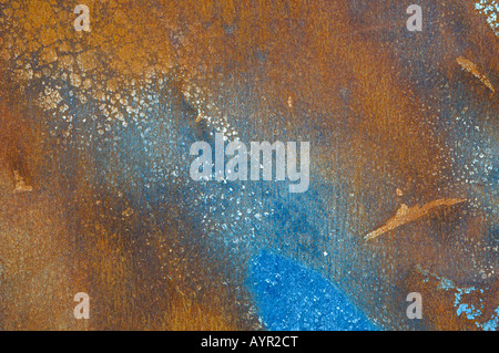 Corroded blue metal surface - Stock Photo