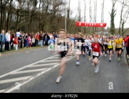 Start of a marathon - Stock Photo