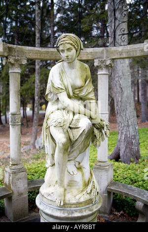 A classic Greek or Roman Style statue at the The Stamford Museum & Nature Center in Stamford Connecticut USA - Stock Photo