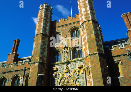 Entrance gateway to St Johns College Cambridge England - Stock Photo