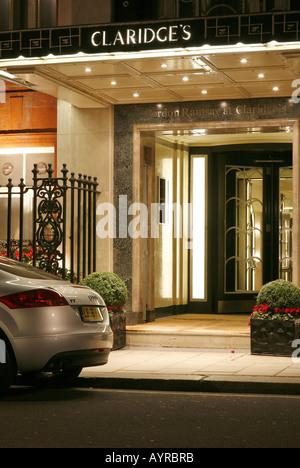 Claridges Hotel at Night - Stock Photo