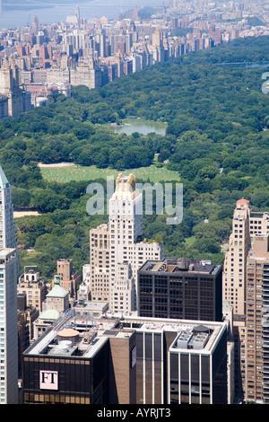 View from the Rockefeller Center of Central Park, New York, USA. - Stock Photo