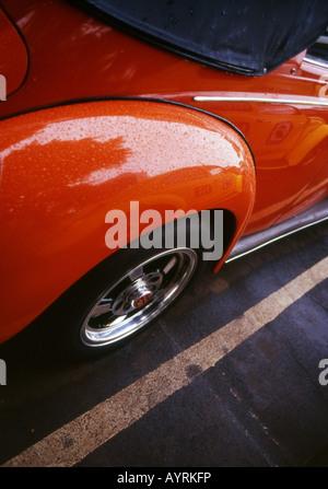A part of vintage volkswagen beetle. - Stock Photo
