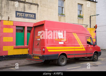 Royal Mail Van on the Island _Tobermory, Isle of Mull, Argyle, Scotland uk - Stock Photo