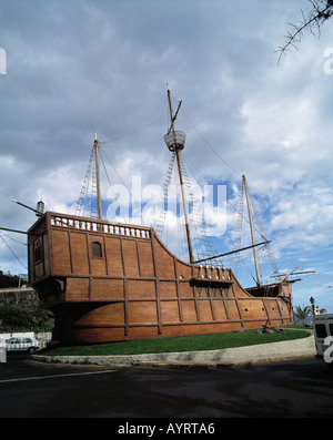 Kolumbus-Karavelle Santa Maria, Amerika-Entdecker, Schiffahrtsmuseum, Santa Cruz de la Palma, La Palma, Kanarische - Stock Photo
