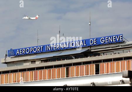 Geneva International Airport, Geneva, Switzerland - Stock Photo
