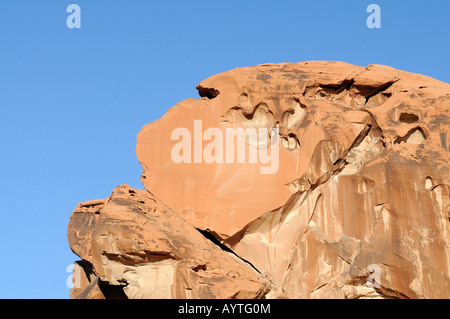 Eroded rock formation in the Valley of Fire State Park in Nevada