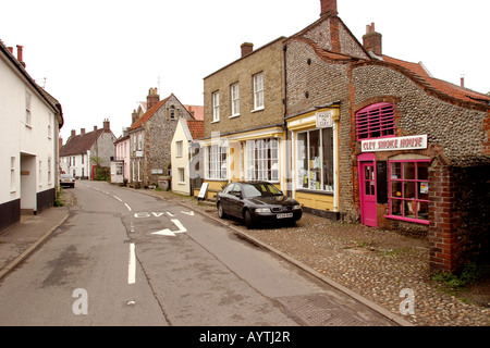 Norfolk Cley next the Sea high street shops - Stock Photo