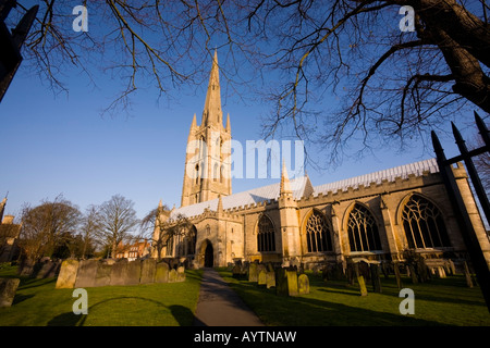 St Wulframs Church Grantham Lincolnshire England - Stock Photo