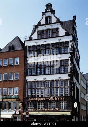 Gasthaus zum St. Peter am Heumarkt in Koeln, Rhein, Nordrhein-Westfalen - Stock Photo
