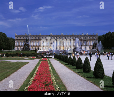 Schloss Herrenchiemsee auf der Herreninsel im Chiemsee, Alpenvorland, Oberbayern - Stock Photo