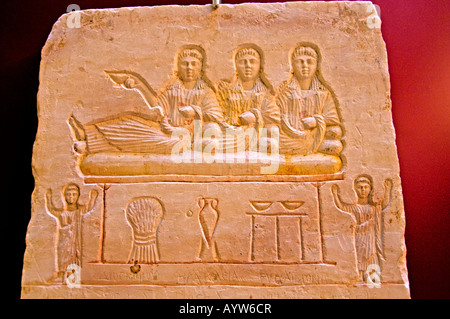 Three tomb stelae in classical style. The Greek inscriptions are called Semne or Didyma by the owners. - Stock Photo