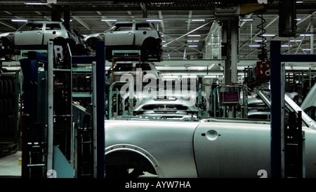 Mini being manufactured in the factory - Stock Photo
