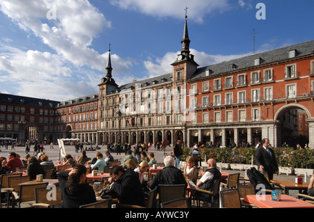 Spain Madrid capital Plaza Major Puerta del Sol - Stock Photo