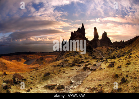 Scotland isle of skye old man of storr - Stock Photo