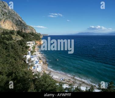 Hotelanlage am Meer in Nauplia, Peloponnes, Griechenland - Stock Photo
