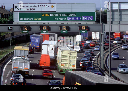 Traffic Jam M25 motorway - Stock Photo