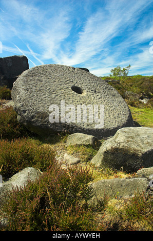 Millstone in the Peak District - Stock Photo