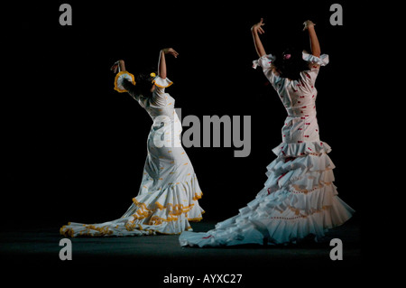 Flamenco dancing at the Flamenco Festival USA 2005 at the New York City Center hall in New York USA 29 January 2005 - Stock Photo